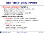 new types of entity transfers
