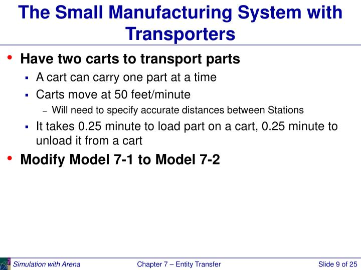 The Small Manufacturing System with Transporters