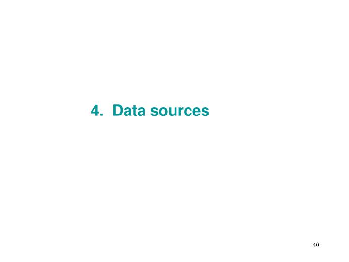 4.  Data sources