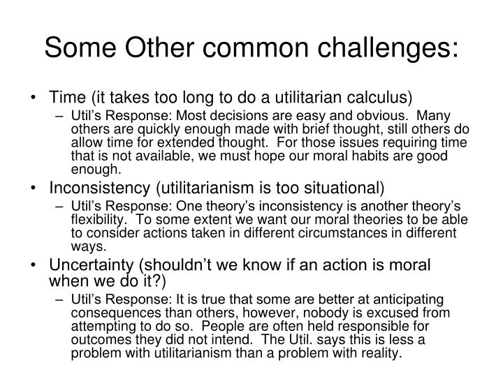 Some Other common challenges: