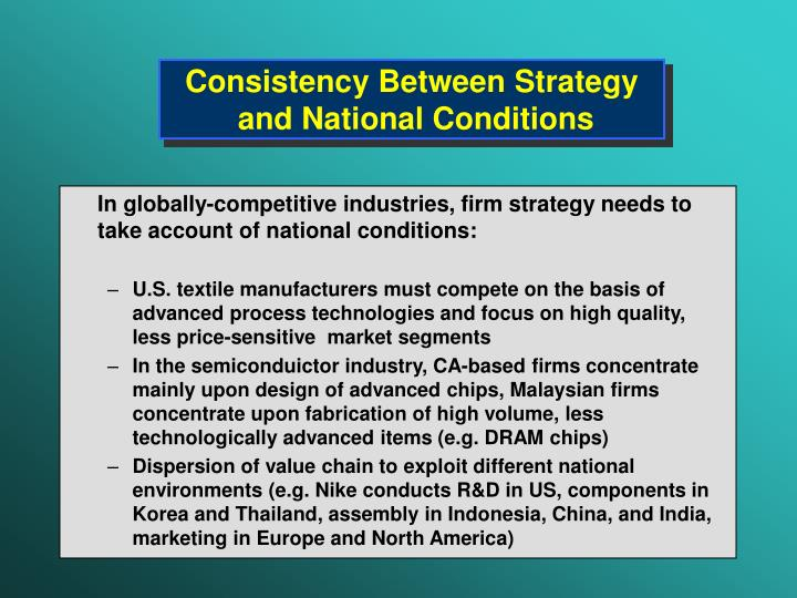 Consistency Between Strategy