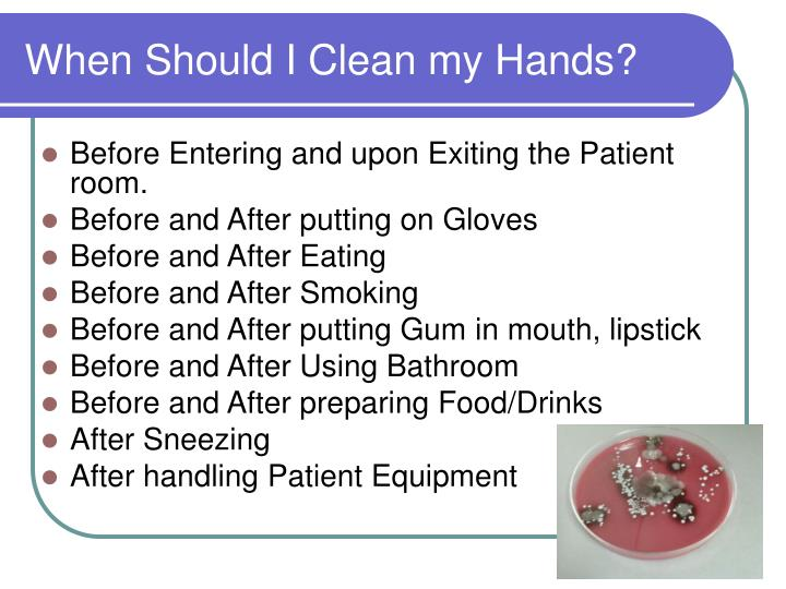 When Should I Clean my Hands?