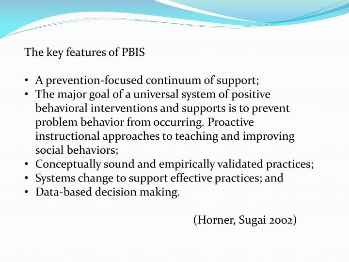 The key features of PBIS