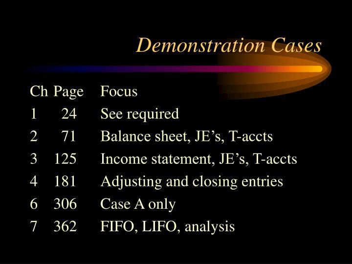 Demonstration Cases