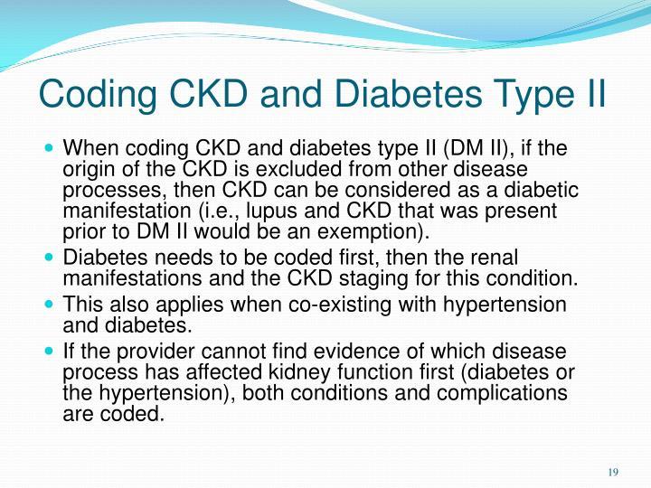 Coding CKD and Diabetes Type II