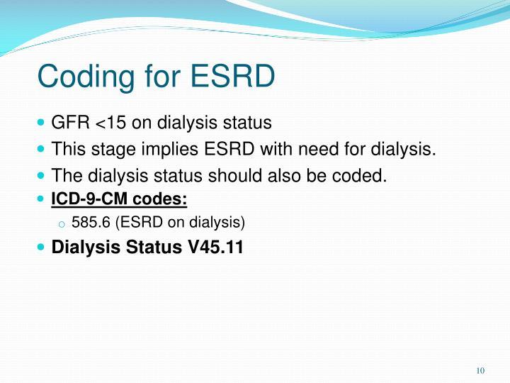 Coding for ESRD
