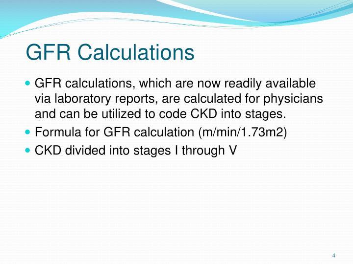 GFR Calculations