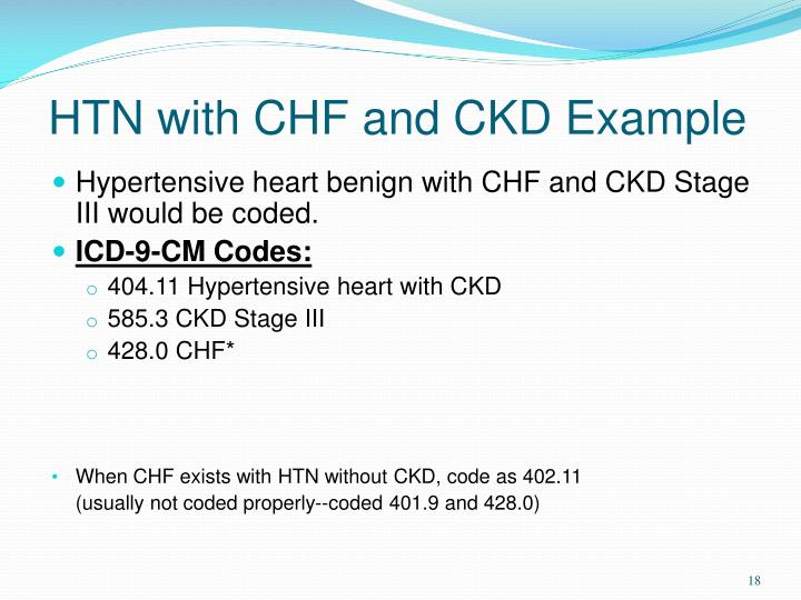 HTN with CHF and CKD Example