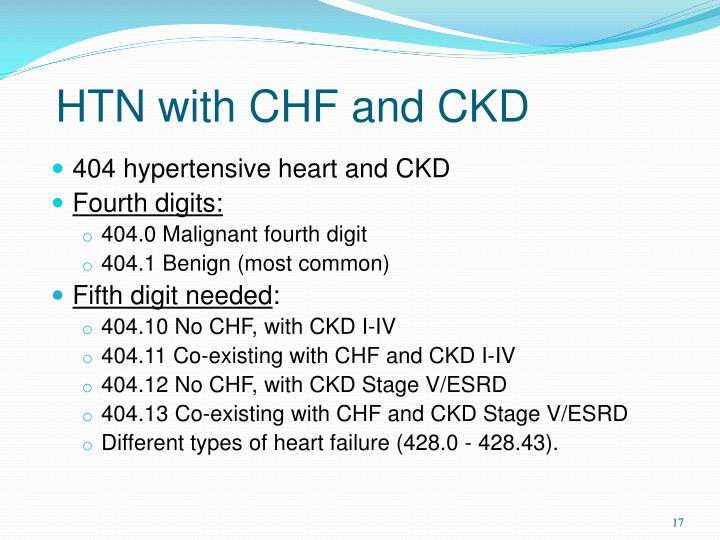 HTN with CHF and CKD