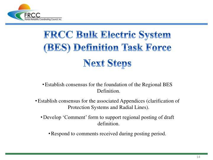 FRCC Bulk Electric System (BES) Definition Task Force