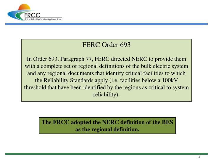 FERC Order 693