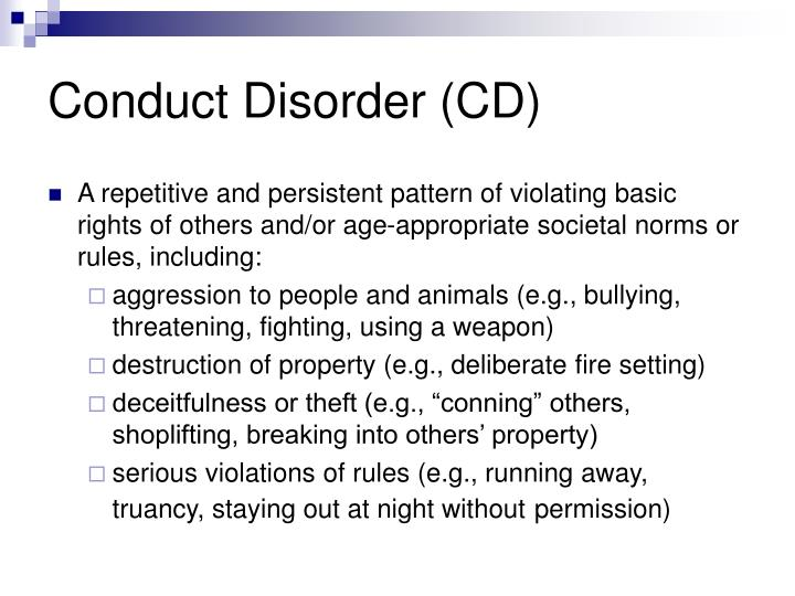 Conduct disorder cd