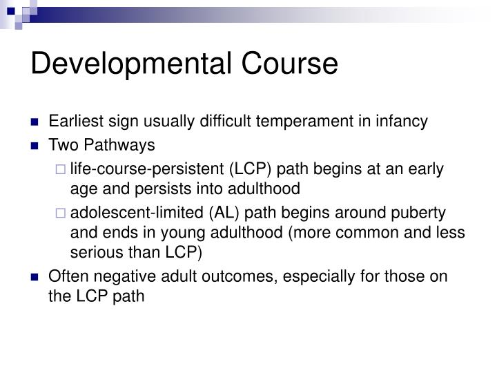 Developmental Course
