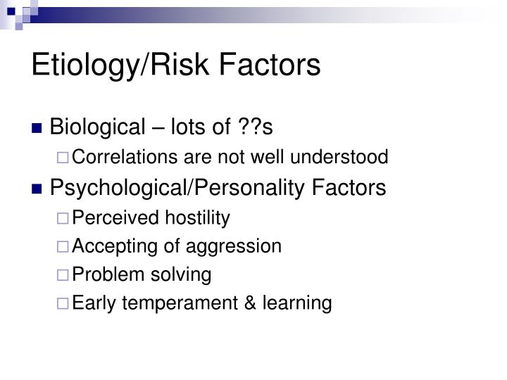Etiology/Risk Factors