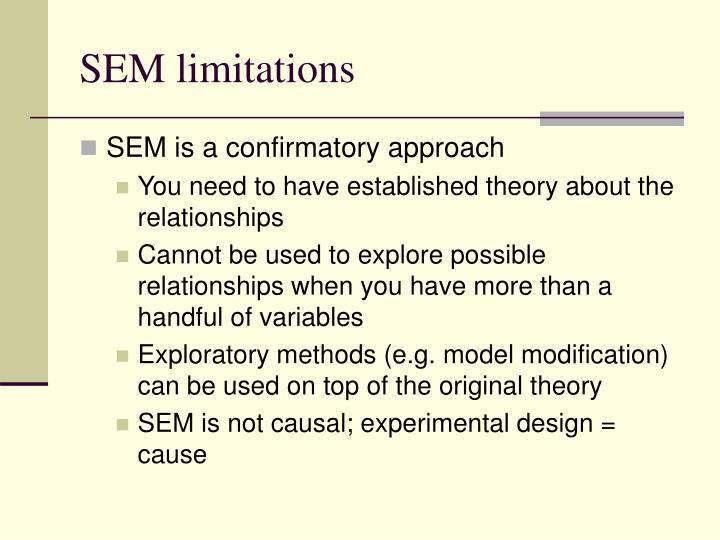 SEM limitations
