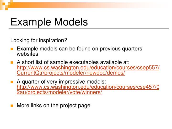 Example Models
