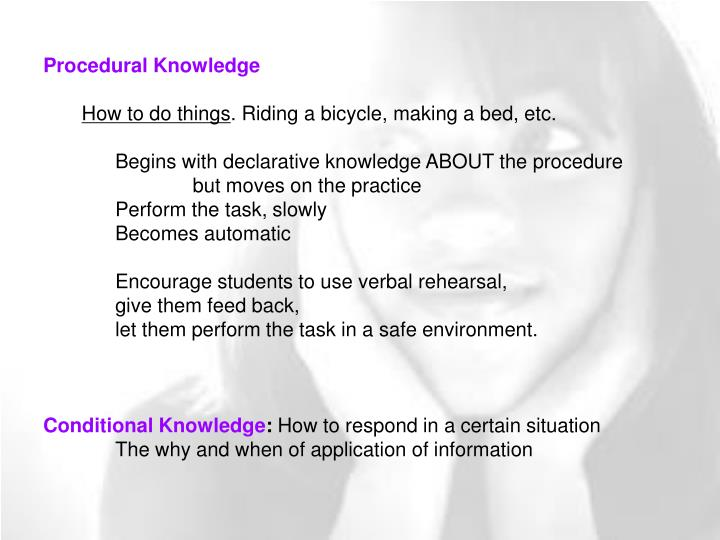 Procedural Knowledge