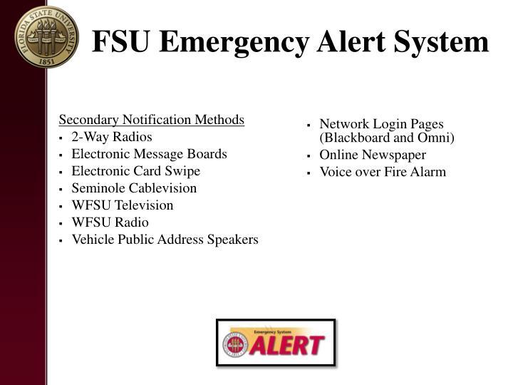 FSU Emergency Alert System
