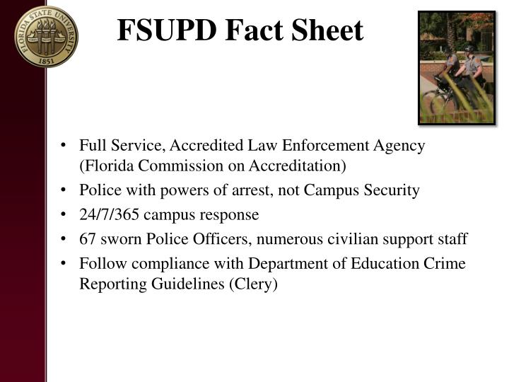 FSUPD Fact Sheet