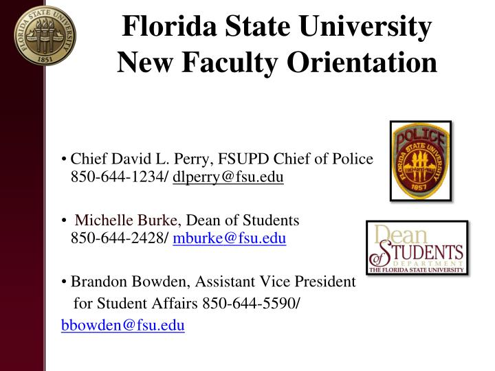 Florida State University New Faculty Orientation