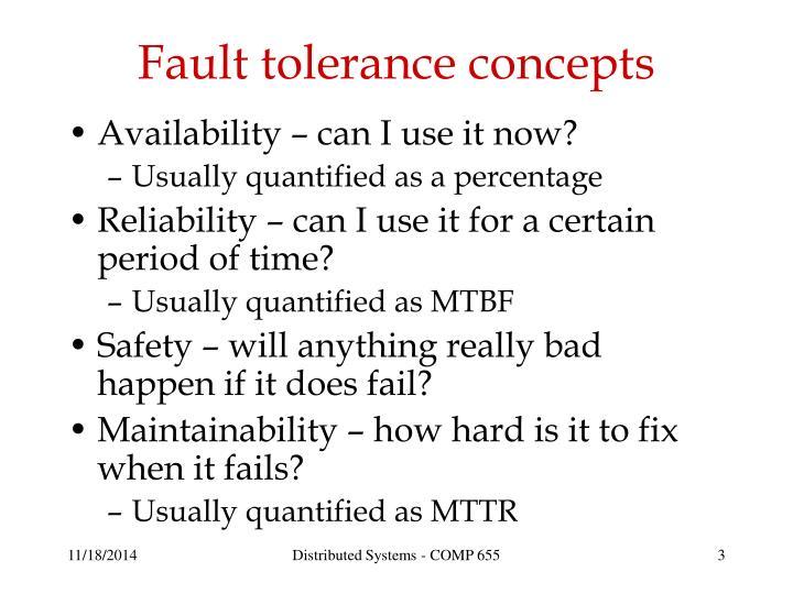 Fault tolerance concepts