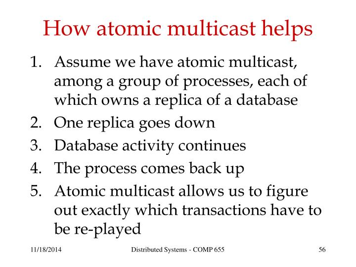 How atomic multicast helps