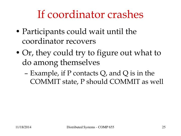 If coordinator crashes