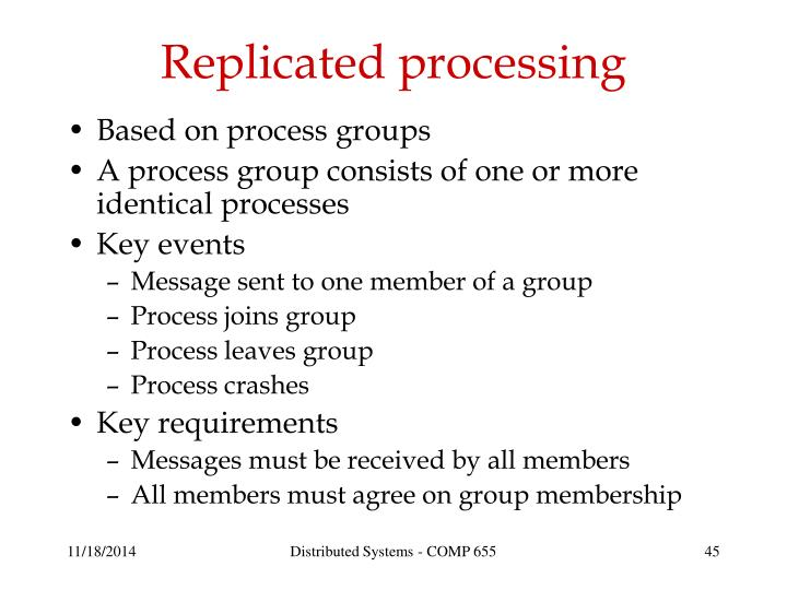 Replicated processing