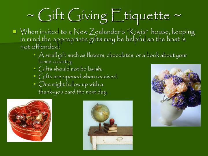 ~ Gift Giving Etiquette ~