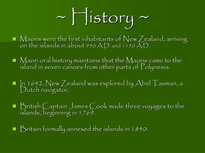 ~ History ~