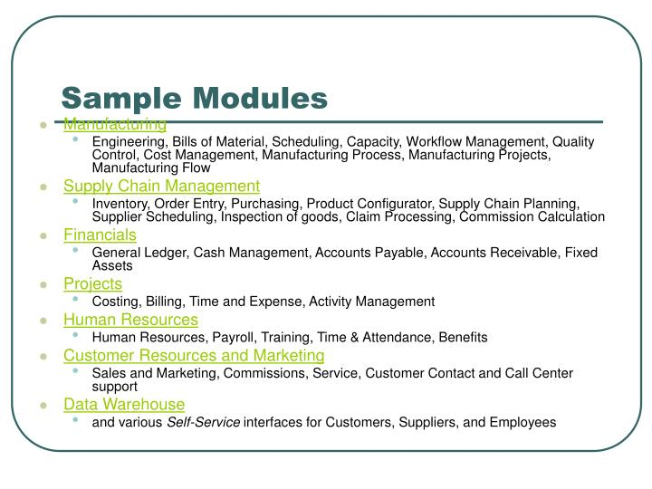 Sample Modules