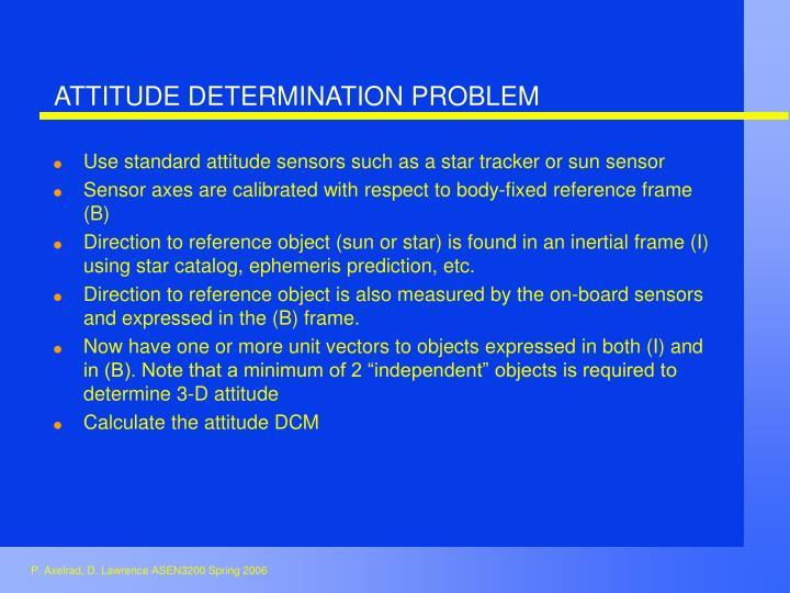 ATTITUDE DETERMINATION PROBLEM