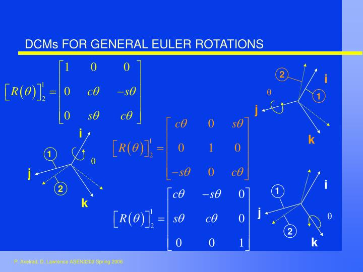 DCMs FOR GENERAL EULER ROTATIONS