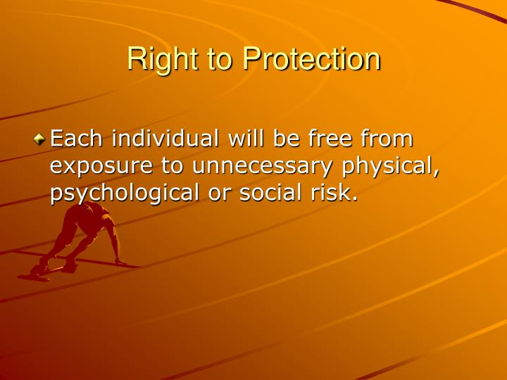 Right to Protection