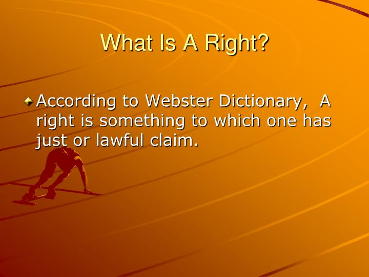 What Is A Right?