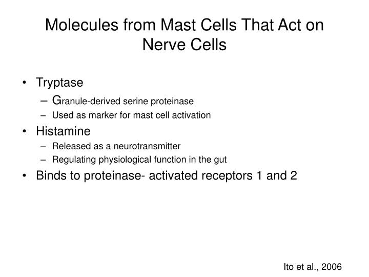 Molecules from Mast Cells That Act on Nerve Cells