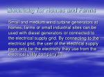 electricity for homes and farms