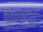 electricity from turbines
