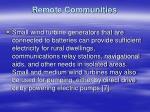 remote communities