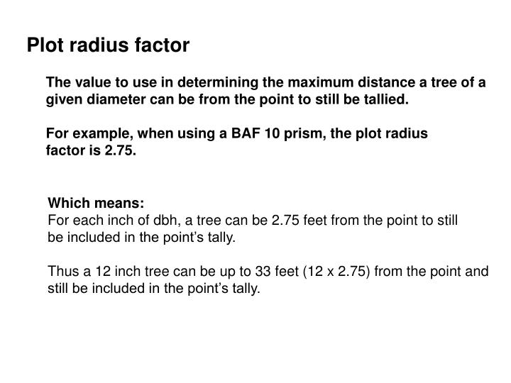 Plot radius factor
