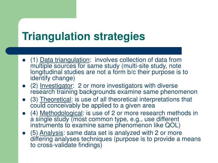 Triangulation strategies