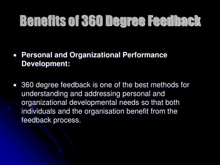 Benefits of 360 Degree Feedback