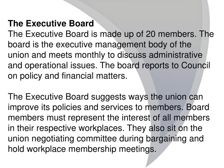 The Executive Board