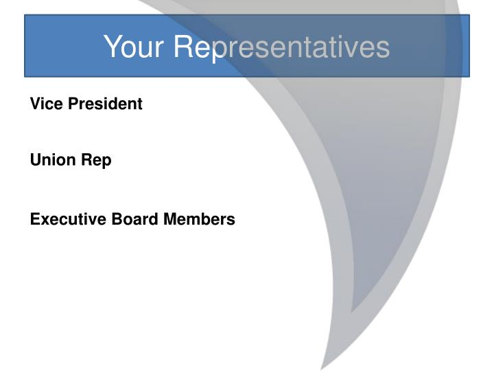 Your Representatives