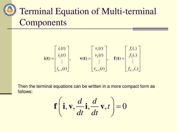 Terminal Equation of Multi-terminal Components