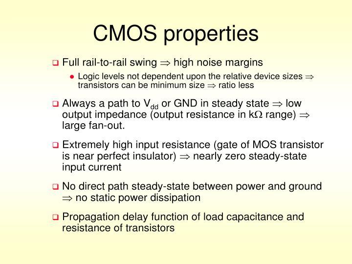 CMOS properties