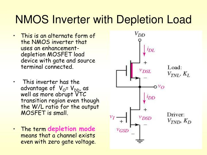 NMOS Inverter with Depletion Load