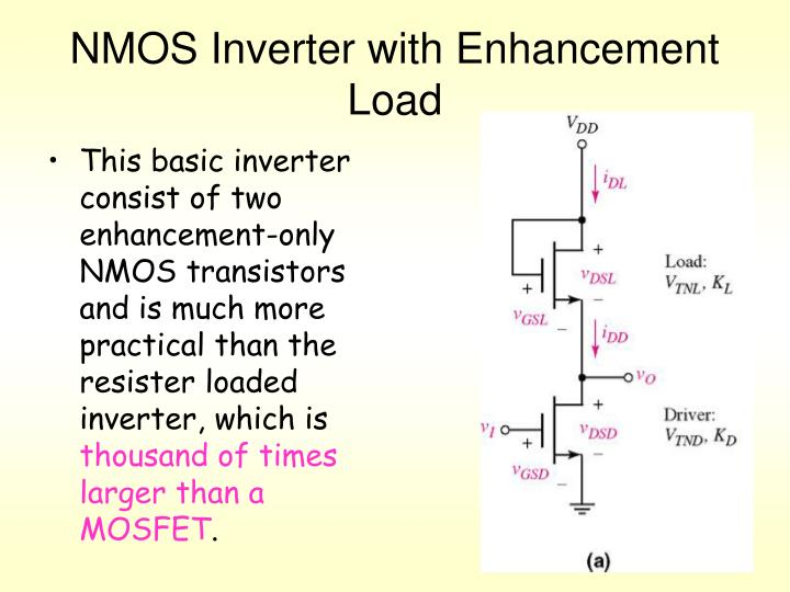 NMOS Inverter with Enhancement Load