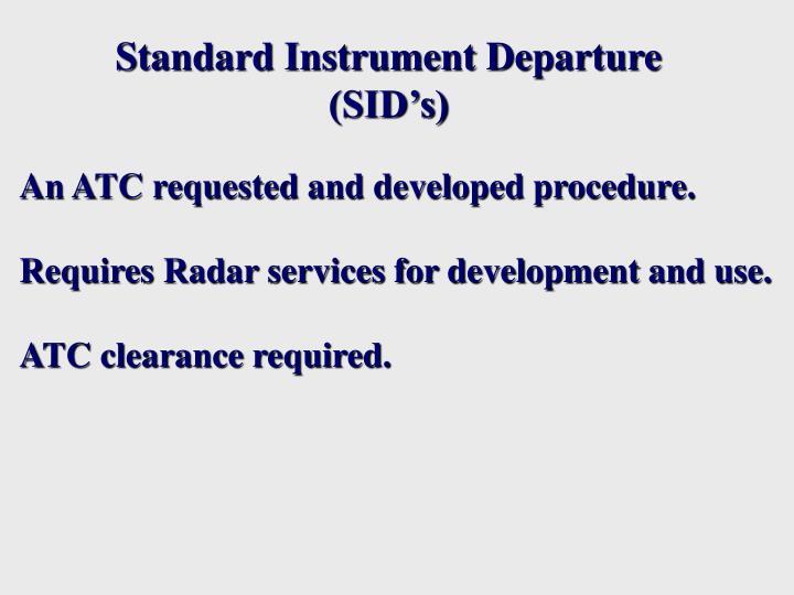 Standard Instrument Departure