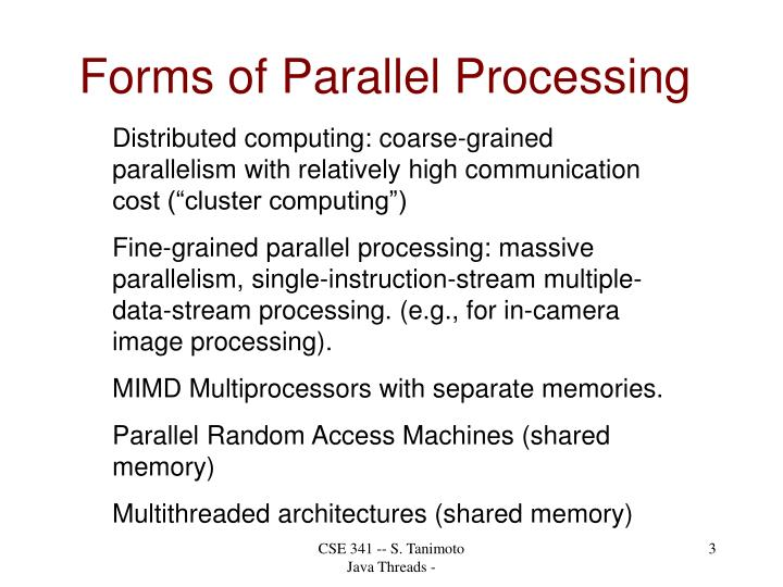 Forms of Parallel Processing